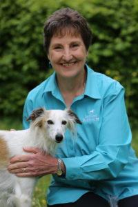 Debby Potts mit Hund